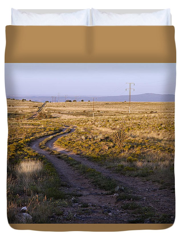 National Old Trails Duvet Cover featuring the photograph National Old Trails South Of Santa Fe by Rick Pisio
