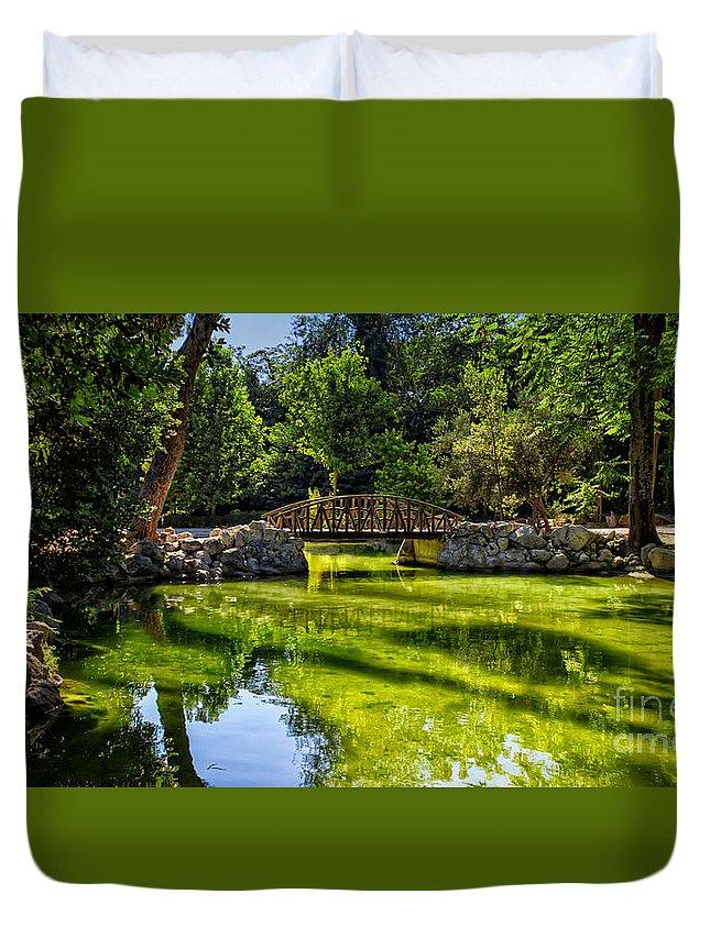 Bridge Duvet Cover featuring the photograph National Park by Lana Malamatidi