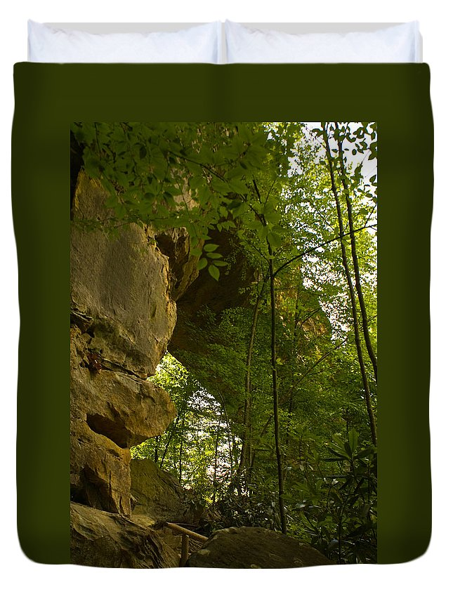 Natural Arch Duvet Cover featuring the photograph Natural Arch by Douglas Barnett