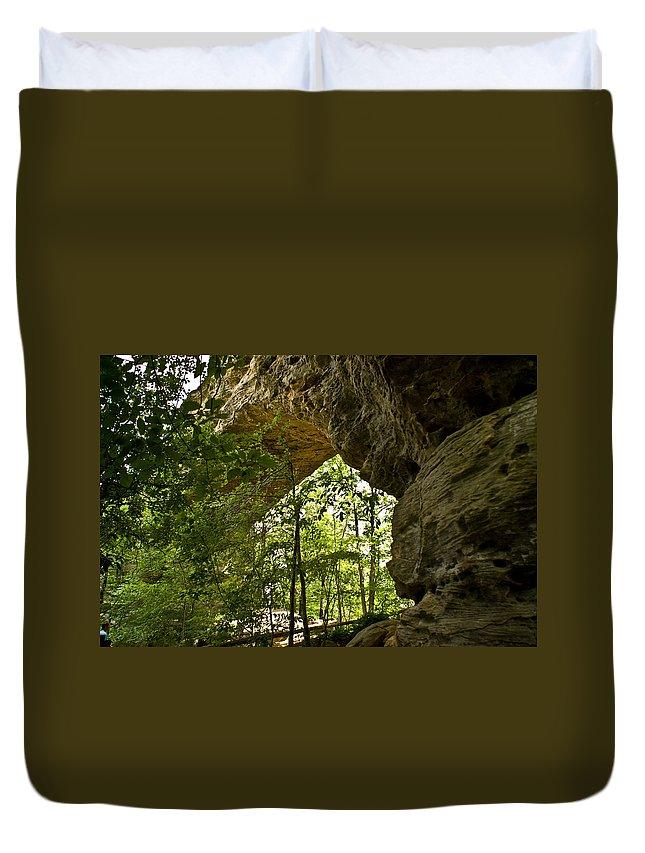 Natural Duvet Cover featuring the photograph Natural Bridge Arch by Douglas Barnett