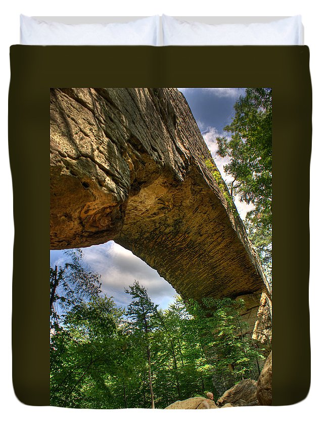 Natural Duvet Cover featuring the photograph Natural Bridge Span by Douglas Barnett