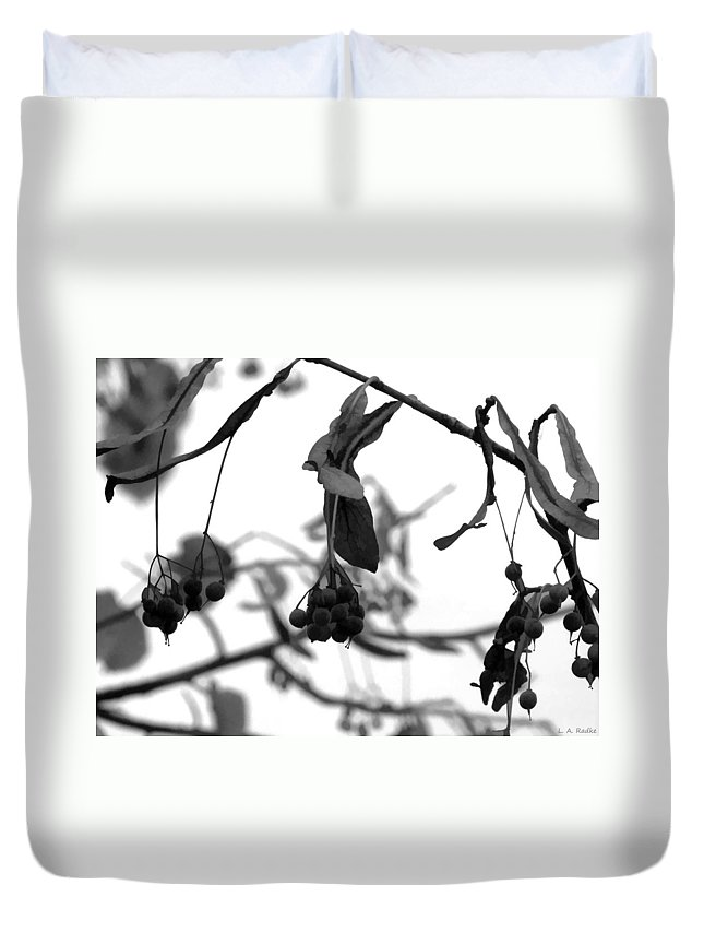 Macro Duvet Cover featuring the photograph Natural Composition II by Lauren Radke