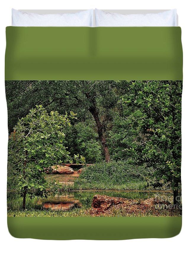 Duvet Cover featuring the photograph Natural Paradise by Biz Bzar