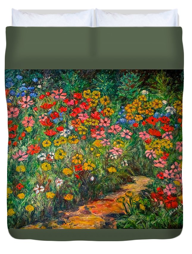 Wildflowers Duvet Cover featuring the painting Natural Rhythm by Kendall Kessler