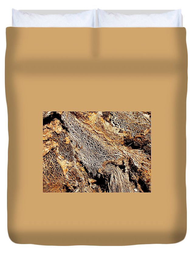Texture Duvet Cover featuring the photograph Natural Textural Abstract by Wayne Potrafka