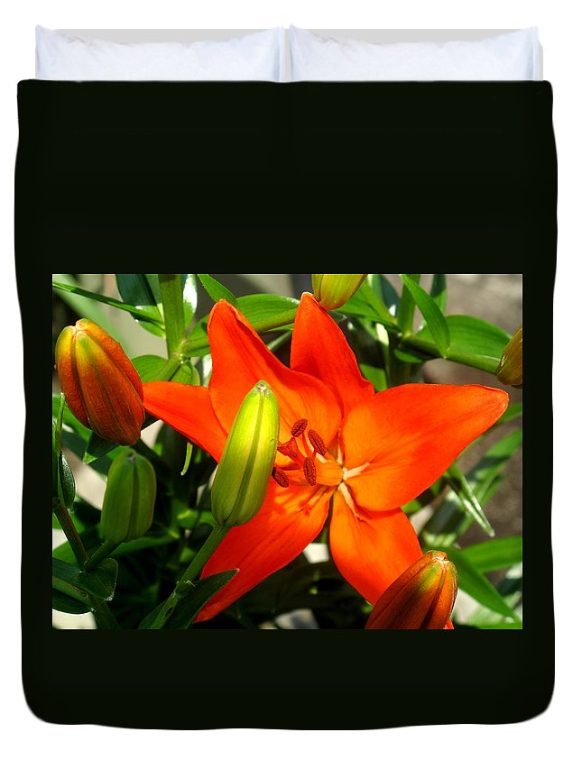 Flower Duvet Cover featuring the photograph Naturally Intense by Ian MacDonald