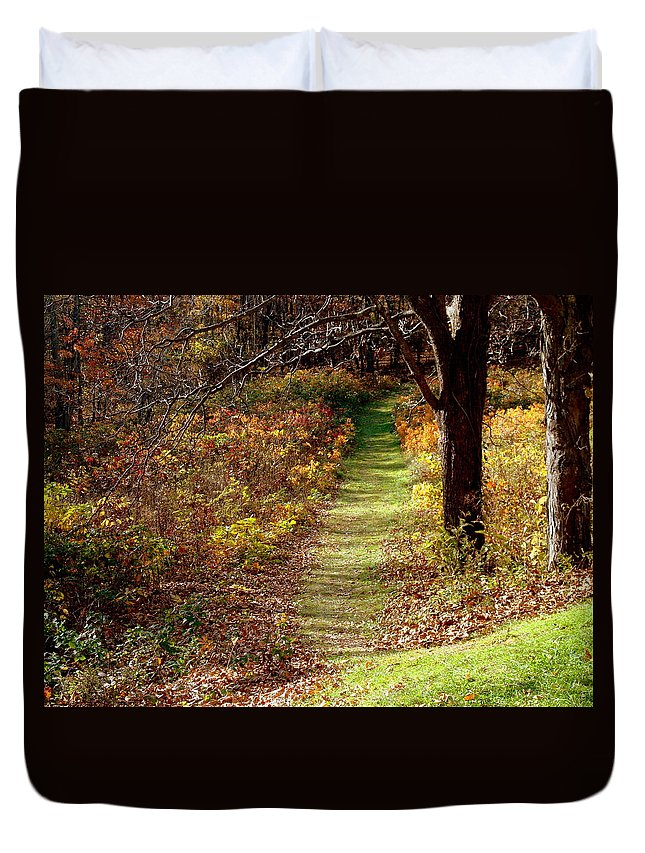 Country Duvet Cover featuring the photograph Nature Trail by Arlane Crump