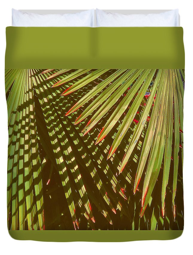 Leaves Duvet Cover featuring the photograph Nature Up Close 6 by Muriel Levison Goodwin