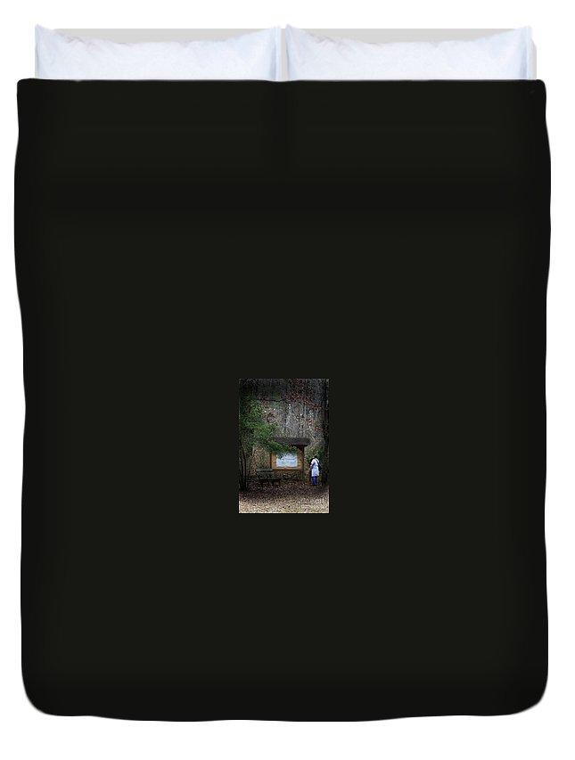 Stephen F. Austin Interpretive Trail Duvet Cover featuring the photograph Nature Walk by Kim Henderson
