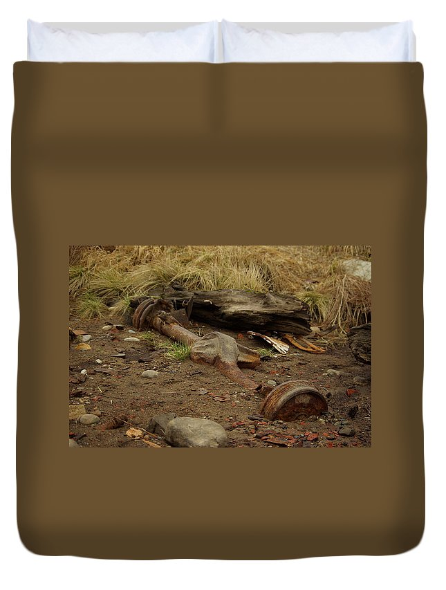 Nature Duvet Cover featuring the photograph Nature Wins by Cindy Johnston