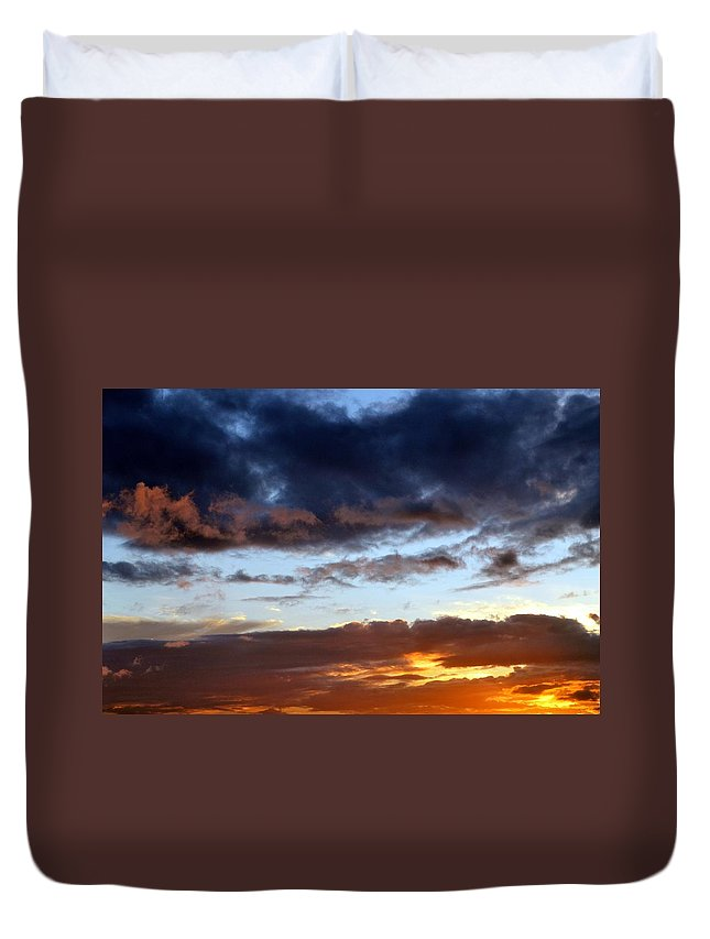 Sunset Duvet Cover featuring the photograph Nature's Canvas by Deepa Sahoo