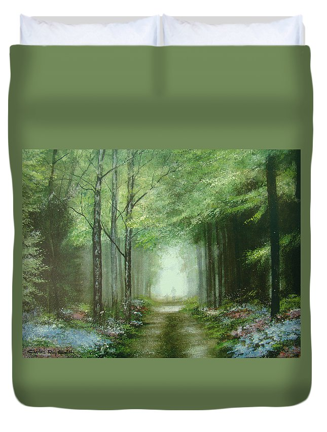 Charles Roy Smith Duvet Cover featuring the painting Nature's Cathedral by Charles Roy Smith