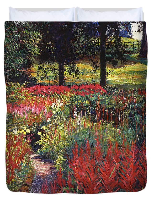 Gardens Duvet Cover featuring the painting Nature's Dreamscape by David Lloyd Glover