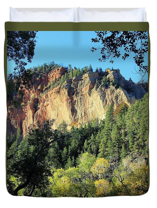 Landscape Duvet Cover featuring the photograph Nature's Entry To Yankee Meadows by Judy Schneider