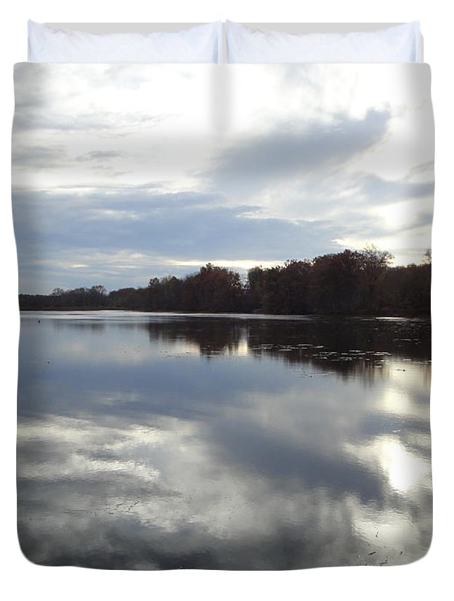 Autumn Landscape Duvet Cover featuring the photograph Nature's Expression-14 by Leonard Holland