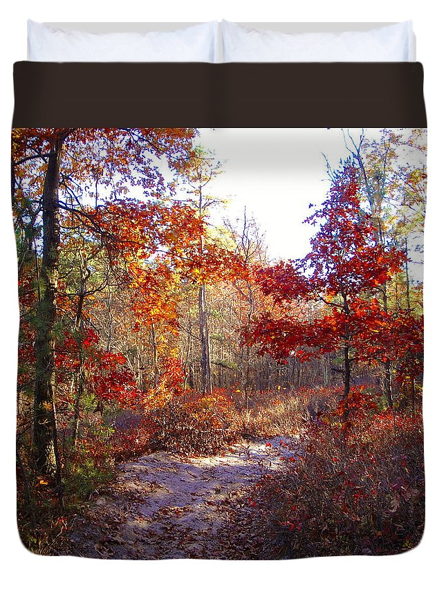 Nature Duvet Cover featuring the photograph Nature's Expression-17 by Leonard Holland