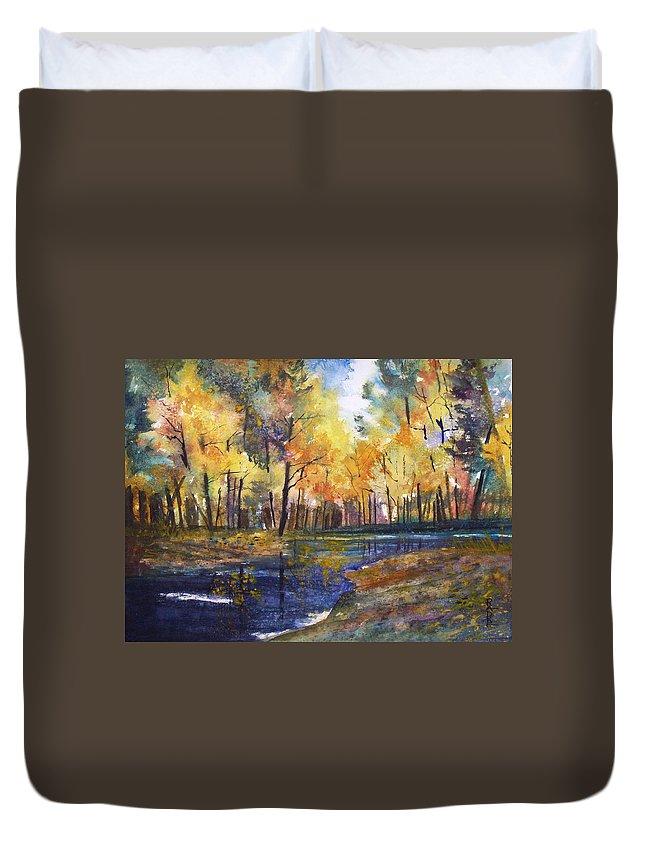 Ryan Radke Duvet Cover featuring the painting Nature's Glory by Ryan Radke