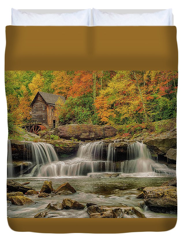 Autumn Duvet Cover featuring the photograph Natures True Colors by Mike Yeatts