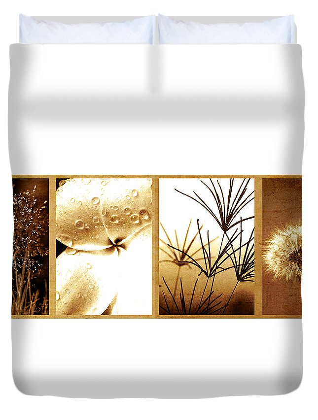 Floral Duvet Cover featuring the photograph Nature's Window by Holly Kempe
