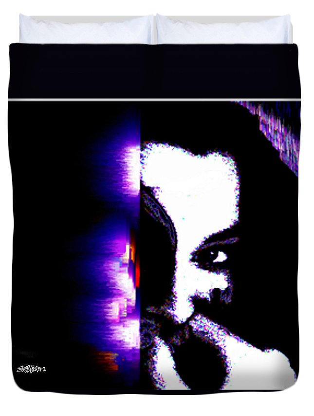 Naughty Duvet Cover featuring the digital art Naughty by Seth Weaver