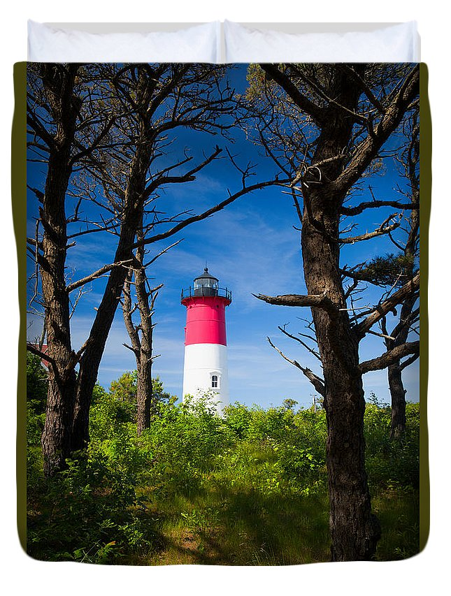 Cape Neddick Duvet Cover featuring the photograph Nauset Lighthouse by Emmanuel Panagiotakis
