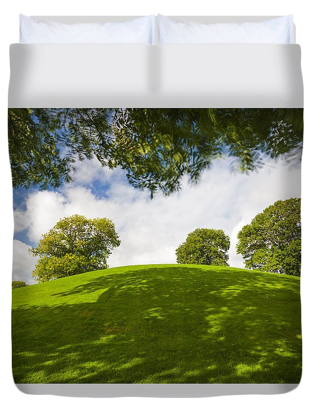 Ancient Monument Duvet Cover featuring the photograph Navan Fort by David Taylor