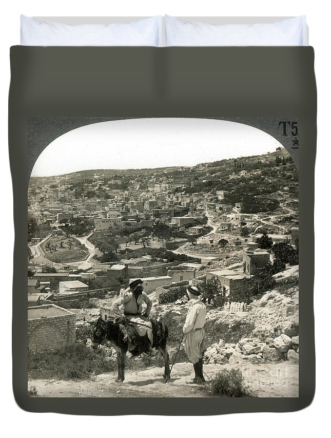 1920s Duvet Cover featuring the photograph Nazareth, Palestine, C1920 by Granger