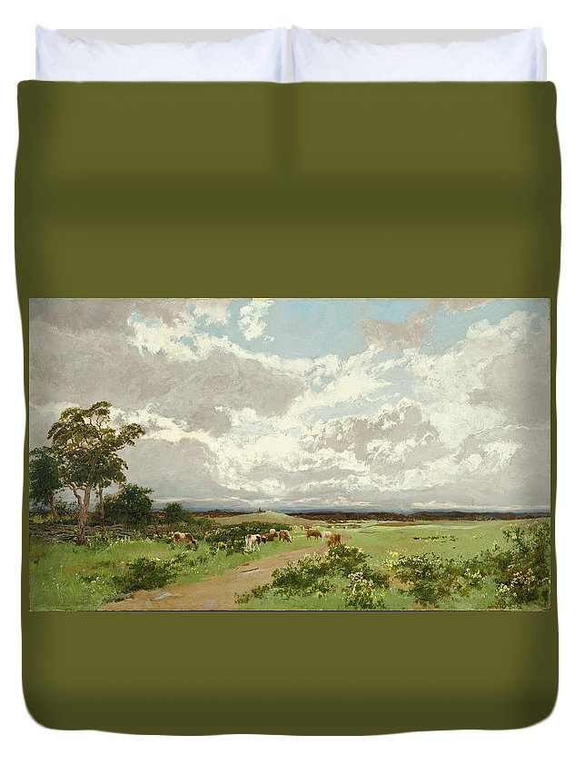 William Charles Piguenit Duvet Cover featuring the painting Near Liverpool. New South Wales by William Charles Piguenit
