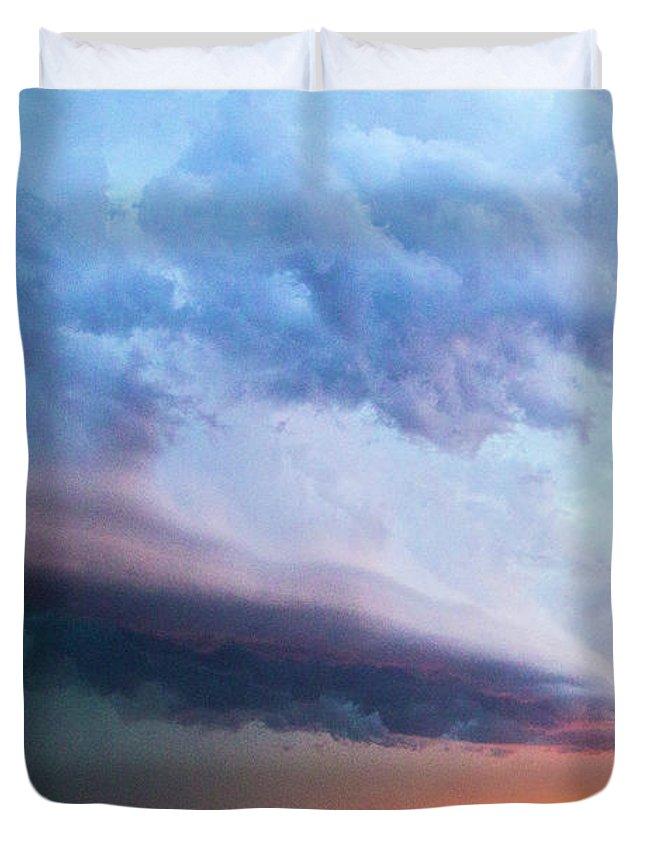 Nebraskasc Duvet Cover featuring the photograph Nebraska Thunderstorm Eye Candy 021 by NebraskaSC