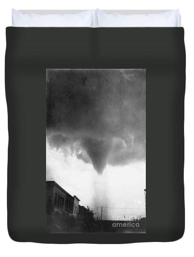 1911 Duvet Cover featuring the photograph Nebraska: Tornado, 1911 by Granger