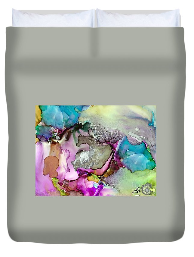 Space Duvet Cover featuring the painting Nebula 3 by Susan Kubes