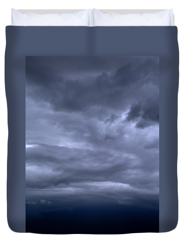 Blue Duvet Cover featuring the photograph Nebular Sonata by M Pace
