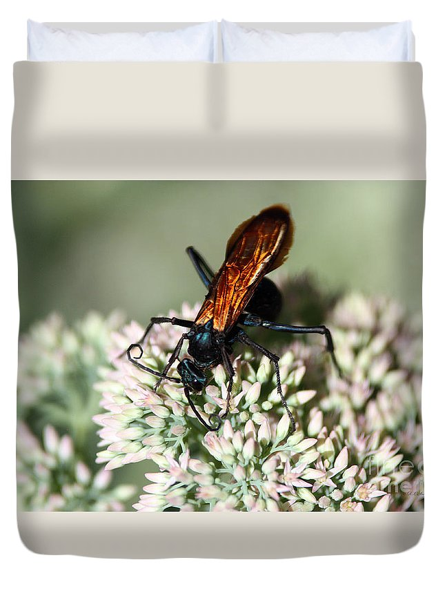 Insect Duvet Cover featuring the photograph Nectar Lover by Robert Smitherman