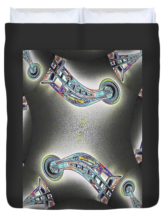 Seattle Duvet Cover featuring the photograph Needle In Fractal by Tim Allen