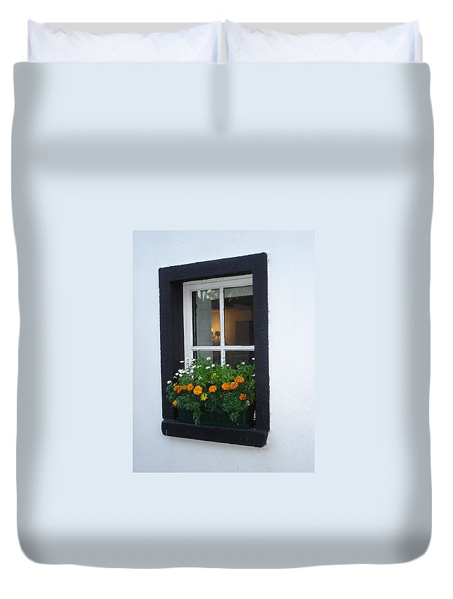 Window Duvet Cover featuring the photograph Neighbor by Kelly Mezzapelle