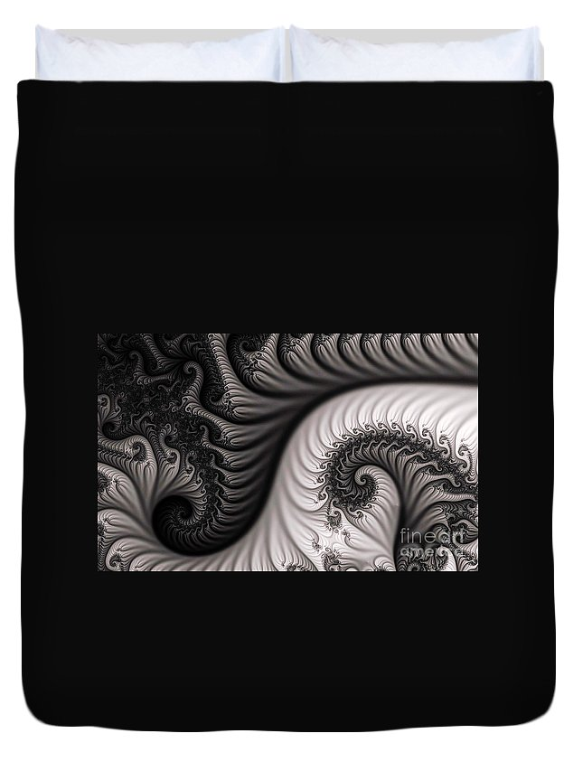 Clay Duvet Cover featuring the digital art Neighborhood by Clayton Bruster