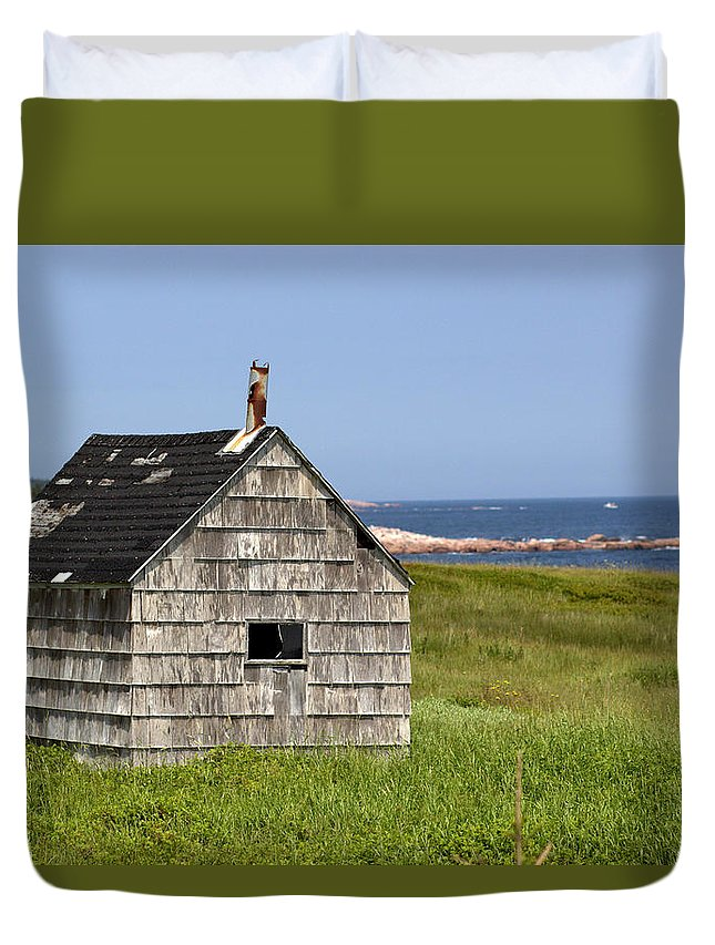 Neils Harbour Duvet Cover featuring the photograph Neils Harbour by Eric Goodson