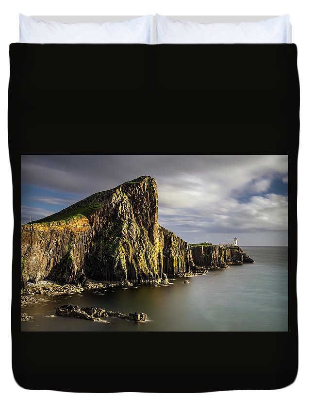 Scotland Duvet Cover featuring the photograph Neist Point Coastline by Swen Stroop