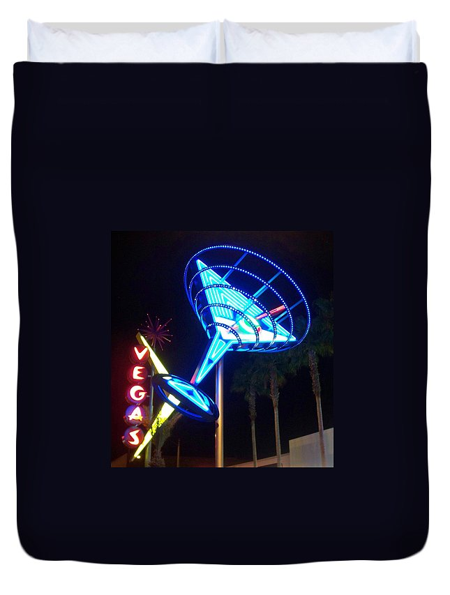 Vegas Duvet Cover featuring the photograph Neon Signs 1 by Anita Burgermeister