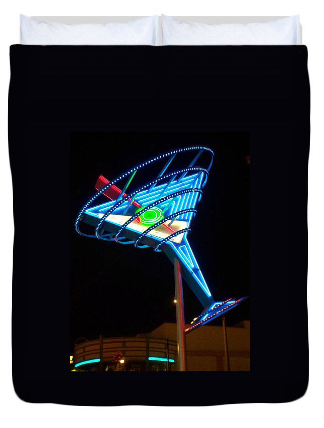 Fremont East Duvet Cover featuring the photograph Neon Signs 4 by Anita Burgermeister