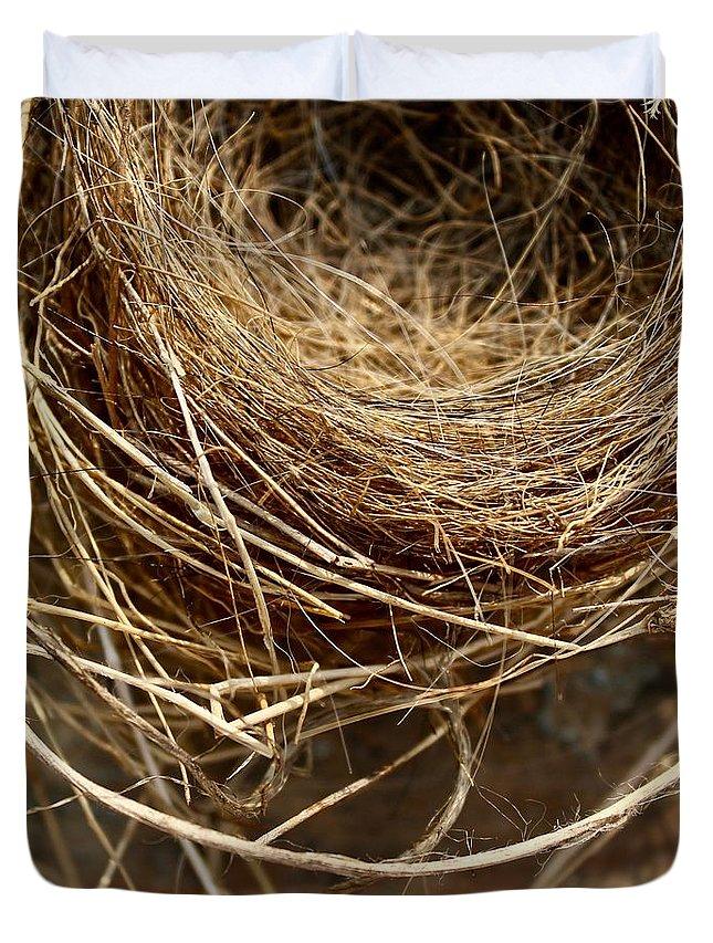 Nest Duvet Cover featuring the photograph Nest 913 by Modern Art