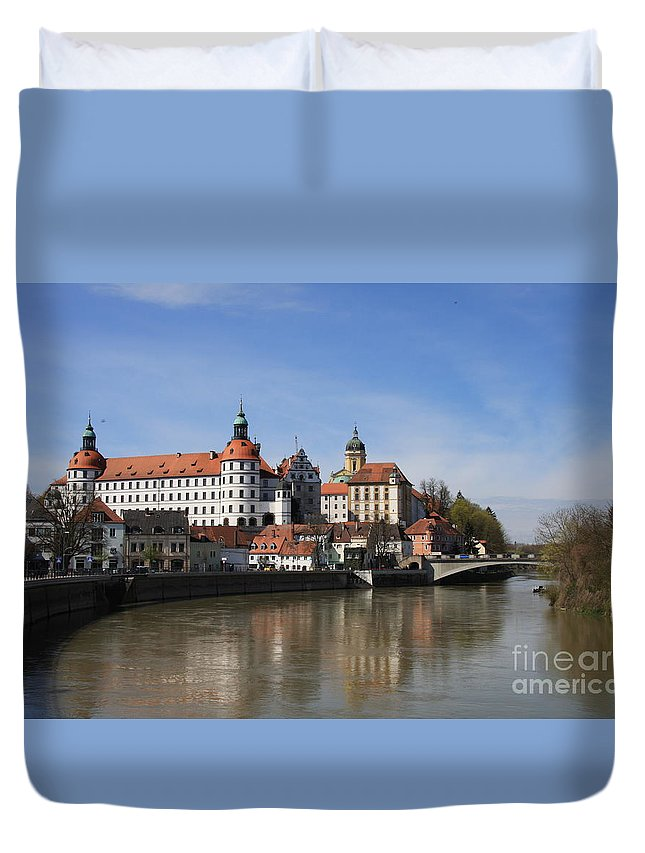 River Duvet Cover featuring the photograph Neuburg Donau - Germany by Christiane Schulze Art And Photography