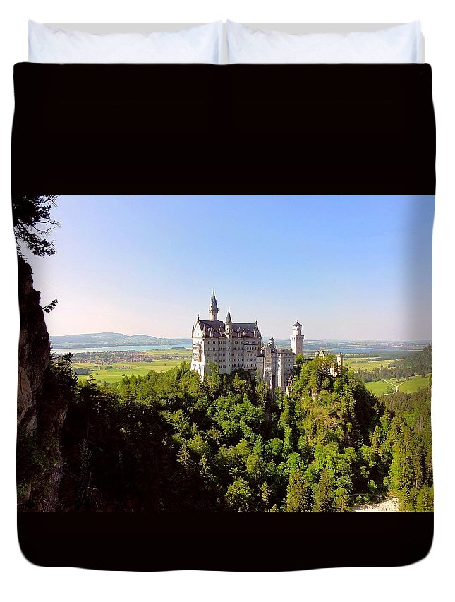 Scenic Duvet Cover featuring the photograph Neuschwanstein Castle by Bruce Thompson