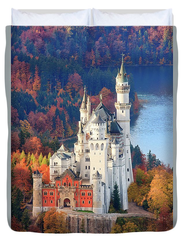 Germany Duvet Cover featuring the photograph Neuschwanstein - Germany by Henk Meijer Photography