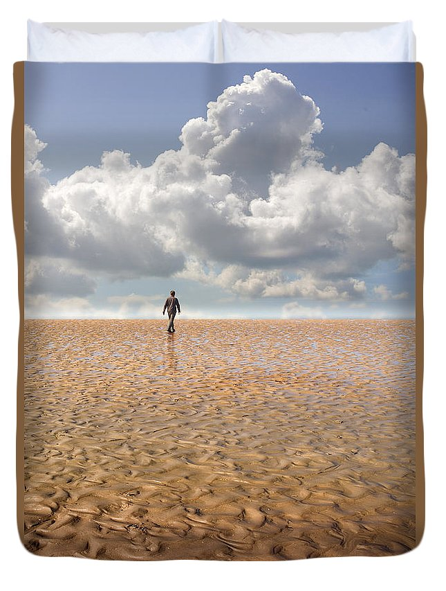 Landscape Duvet Cover featuring the photograph Never Go Back by Mal Bray