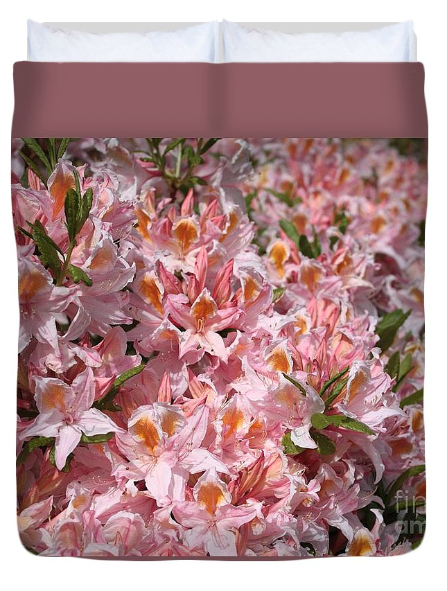 Azaleas Duvet Cover featuring the photograph Neverending Azaleas by Carol Groenen