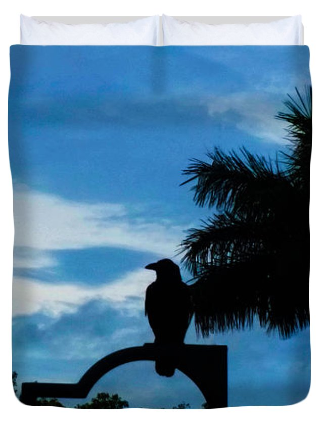 Susan Vineyard Duvet Cover featuring the photograph Nevermore In The Tropics by Susan Vineyard