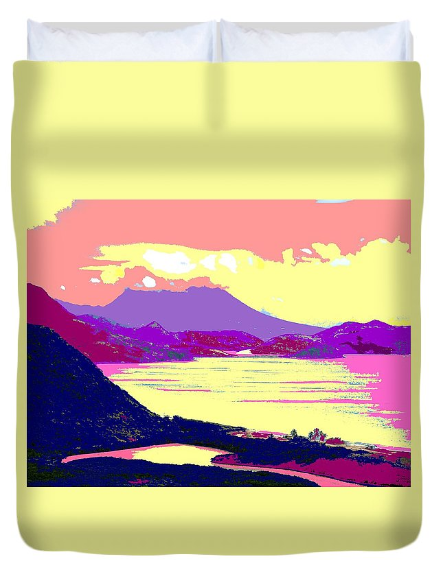 Nevis Duvet Cover featuring the photograph Nevis From The Penninsula by Ian MacDonald