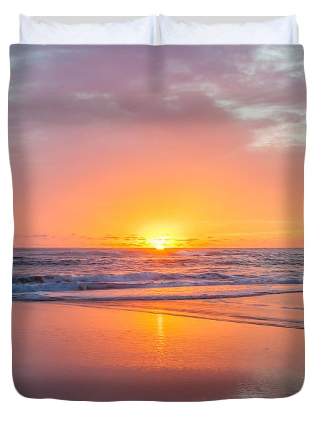 New Beginnings Duvet Cover featuring the photograph New Beginnings by Az Jackson