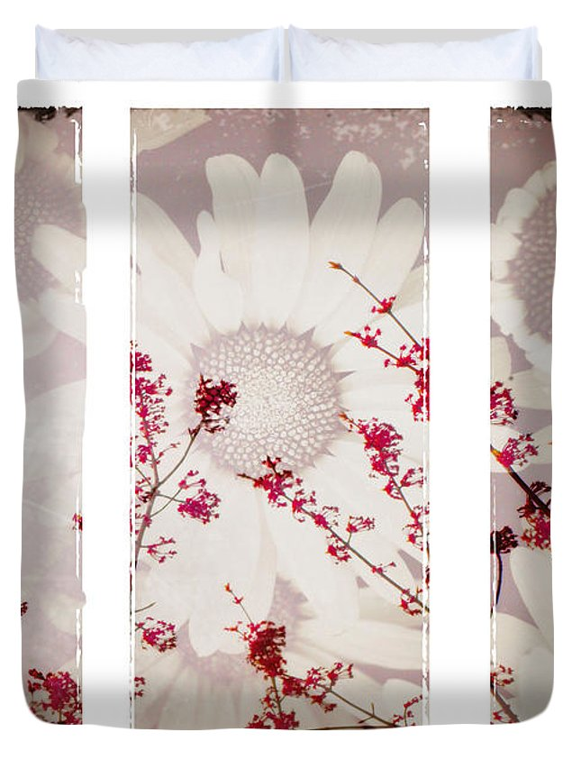 Flowers Duvet Cover featuring the photograph New Beginnings by Tara Turner